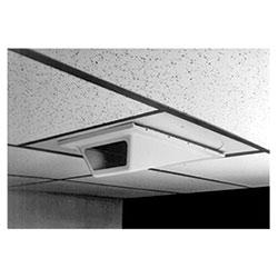 Enceinte intérieure. Profil bas Wedge-style pour les Applications de plafond de baisse. Charnière de couvercle plastique ABS inférieur avec vis indesserrable. Caisson en aluminium