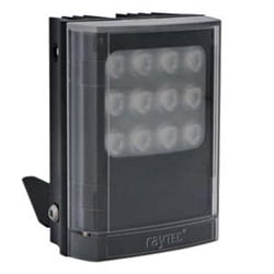 "Infrared LED Illuminator, 1-Panel, VARIO2, 12 to 24 Volt AC/DC, 13 Watt, 9-LED, 940 NM Wavelength, 10 to 120 Degree, 4"" Length x 5"" Width x 2.5"" Depth, Black"
