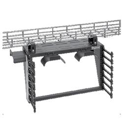"CableRack, Overhead 19"" Rack, 6U 12.44""H X 20.16""W X 11.50""D, Black, Steel"