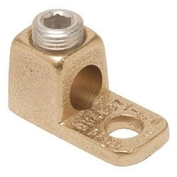 "Copper Terminal, 1 Hole, 4/0 AWG (Str)-500 kcmil, 1/2"" Stud, 1 Screw"