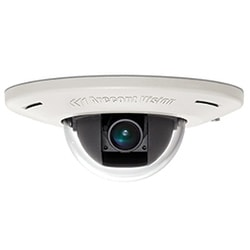 1.3 MP MicroDome(TM) Camera, Day/Night, 1280x1024, 42 fps, MJPEG/H.264, 4 mm Fixed Lens, In-ceiling Flush Mount, Indoor, Microphone