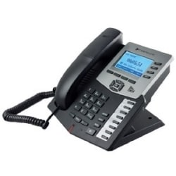 Cortelco Executive IP Phone With 4 lines, Expansion, 128X64 Graphic LCD Display, HD Voice, Mute Button and More