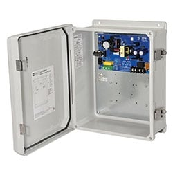 Power Supply/Charger, Outdoor, Single Output 12/24VDC @ 4A, 115/220VAC, WP3 Enclosure