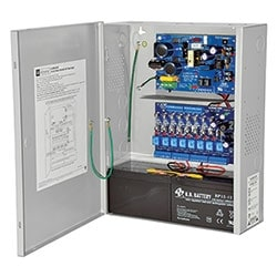 Access Power Controller w/ Power Supply/Charger, 8 Fused Relay Outputs, 12/24VDC @ 4A, FAI, 115VAC, BC400 Enclosure