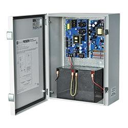 Video Surveillance UPS, 4 PTC Outputs 12VDC @ 2A and 12 PTC Outputs 24VAC @ 4A, 115VAC, Battery Charging, WP2 Outdoor Enclosure