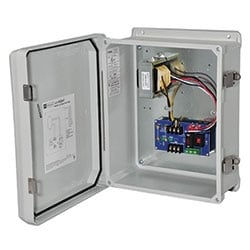 CCTV Power Supply, Outdoor, 2 Fused Outputs, 24/28VAC @ 4A, 115/220VAC, WP3 Enclosure