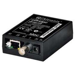 EoC Single Port Receiver, 25Mbps, Passes silmultaneous composite video, 12/24VDC or 16/24VAC, Requires Compatible Transceiver