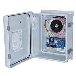CCTV Power Supply, Outdoor, 2 Fused Outputs, 24/28VAC @ 12.5A, 277VAC, WP3 Enclosure
