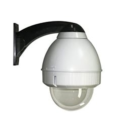 """PoE Ready, 7"""" outdoor pendant mount dome housing for PoE & PoE Plus enabled fixed cameras. DPA heater/blower system, 60W midspan not included"""