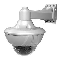 HT650 Série haute résolution Tamper/résistant aux intempéries caméra dôme avec LEDs IR, 2,8-12 mm