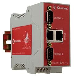 Cette porte d'entrée DeviceMaster DB9M 2E 2-Port ethernet a hautement flexible et unique fonction Modbus et fonctionne dans une plage de températures étendue