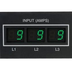 5,7kW 3-phase compteur PDU, 208/120V TAA, cordon de 6 pi, points de vente (C13 36, 6 C19, 6 5-15/20R), 0U Vertical, L21 - 20P