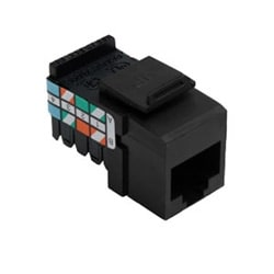 Category 3 QuickPort Connector, 8 Position, 8 Conductor, Black