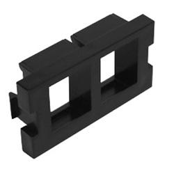 MOS Insert, 2-Port QuickPort Adapter, 1 U, Black