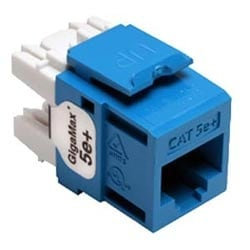 GigaMax 5e+ QuickPort Connector, Category 5e, Blue