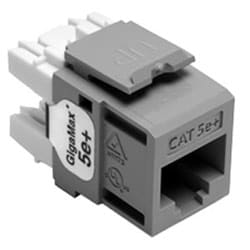 GigaMax 5e+ QuickPort Connector, Category 5e, Grey