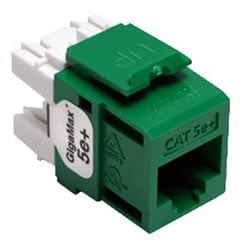 GigaMax 5e+ QuickPort Connector, Category 5e, Green