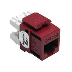 GigaMax 5e+ QuickPort Connector, Category 5e, Red