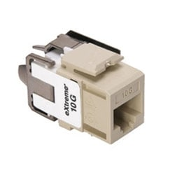 eXtreme 10G QuickPort Connector, Univeral Wiring, 110 Style Termination, UTP Category 6A, Ivory