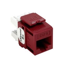Connecteur de QuickPort extrême 6 +, catégorie 6, rouge
