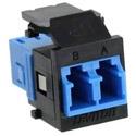 QuickPort Duplex LC Adapter, Single-mode, Zirconia Ceramic Sleeve, Black