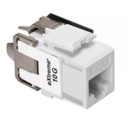 eXtreme 10G QuickPort Connector, Univeral Wiring, 110 Style Termination, UTP Category 6A, White