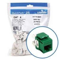 eXtreme 6+ QuickPort Connector Quickpack, Category 6, 25-pack, Green