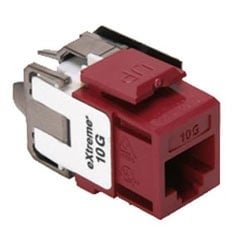 eXtreme 10G QuickPort Connector, Univeral Wiring, 110 Style Termination, UTP Category 6A, Red