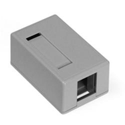 Caisson de montage de Surface QuickPort, Port 1, gris