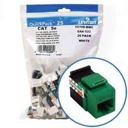 GigaMax 5e QuickPort Connector Quickpack, UTP Category 5e, 110 Style Termination, Universal Wiring, Green, Pack of 25