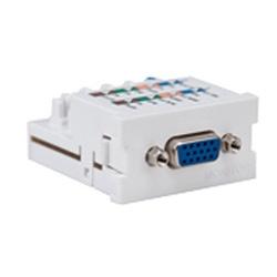 VGA Monitor MOS Module, 110-style Termination, White