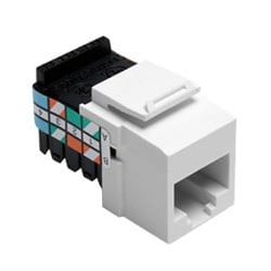 Category 3 QuickPort Connector, 8 Position, 8 Conductor, White