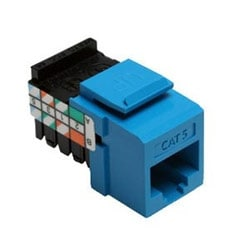 Category 5 QuickPort Connector, Universal Wiring, 110 Style Termination, 8P8C, Blue