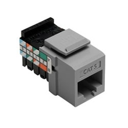 Category 5 QuickPort Connector, Universal Wiring, 110 Style Termination, 8P8C, Grey