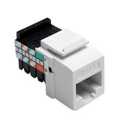 Catégorie 5 QuickPort connecteur, câblage universel, 110 modèle résiliation, 8P8C, blanc