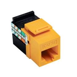 5e GigaMax QuickPort connecteur UTP catégorie 5e, Style 110 résiliation, câblage universel, jaune