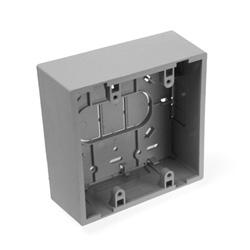 "Surface Mount Backbox, Dual Gang, Grey, 1.89"" Depth"