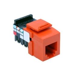 Voice Grade QuickPort connecteur, 6-Position 6-conducteurs, Orange