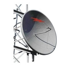 3.0 m | 10 ft Standard Parabolic, Low VSWR Unshielded Antenna, single-polarized, unpressurized, 2.480-2.700 GHz, N Female, gray antenna, with flash, standard pack - one-piece reflector