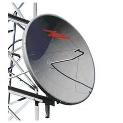 1.8 m | 6 ft Standard Parabolic, Low VSWR Unshielded Antenna, single-polarized, unpressurized, 1.900-2.300 GHz, 7/8 in EIA connector, gray antenna, molded gray radome with flash, standard pack - one-piece reflector