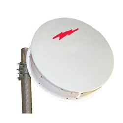 1.8 m | 6 ft ValuLine High Performance Low Profile Antenna, single-polarized, 12.700-13.250 GHz, UG-541A/U, white antenna, polymer white radome without flash, standard pack - one-piece reflector