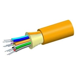 Low Smoke Zero Halogen Riser Distribution Cable, 12 fiber single-unit