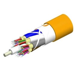 Low Smoke Zero Halogen Riser Distribution Cable, 72 fiber multi-unit with 12 fiber subunits