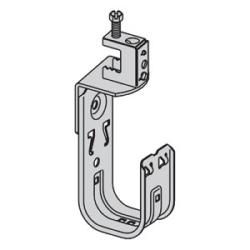 "1-5/16"" J-Hook with Screw-on Beam Clamp Fastener, Rotates 360 Deg; Beam Flange Thickness: Up to 1/2"""