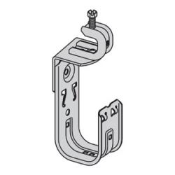 """2"""" J-crochet avec vis sur faisceau pince attache, tourne 360 Deg; Épaisseur de bride de faisceau : 1/8""""- 5/8"""""""