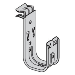 """3/4"""" J-Hook with Hammer-on Beam Clamp Fastener; Beam Flange Thickness: 1/8"""" - 1/4"""""""