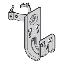 Crochet en J de 2 po avec serre-câble pour poteau au plancher; type de poteau : carré de 1 po