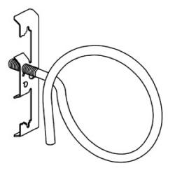 """Ensemble de bague de bridage, Rod & fil, fil #12 à travers plaine Rod 1/4"""""""