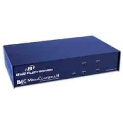 Châssis de convertisseurs de médias basés sur Ethernet, modulaire - MediaConverter/4 (4-slot, AC)