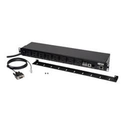 1.4kW Single-Phase Switched PDU, 120V Outlets (8 5-15R), 5-15P, 100-127V Input, 12ft Cord, 1U Rack-Mount